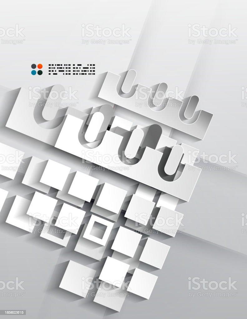 Vector calendar / organizer paper design royalty-free stock vector art