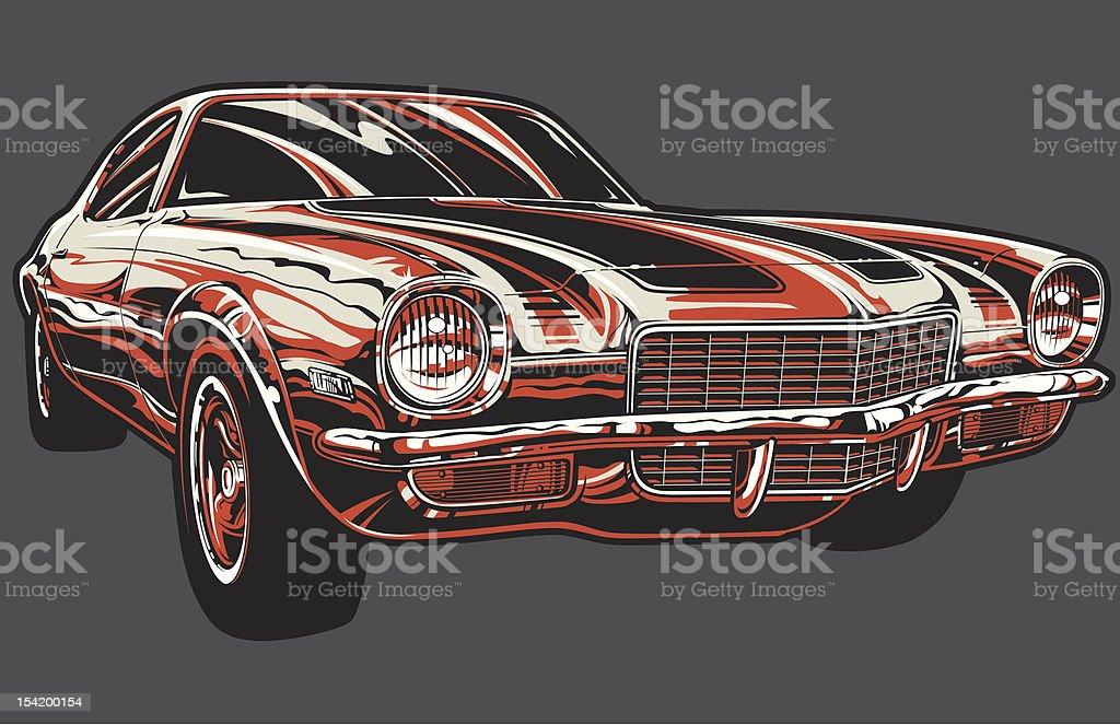 Vector Camaro: Color Version royalty-free stock vector art