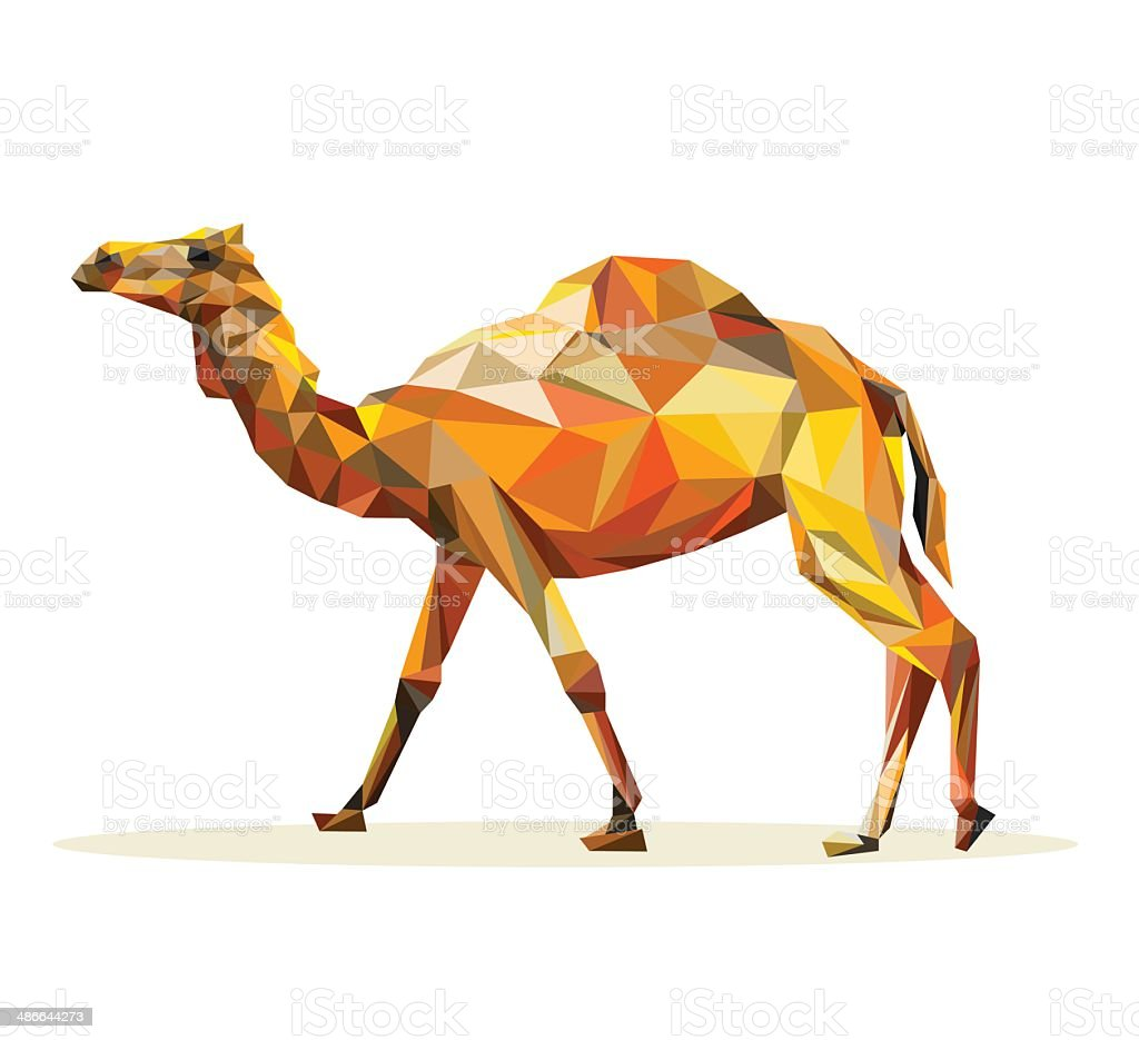 Vector - camel geometric vector art illustration