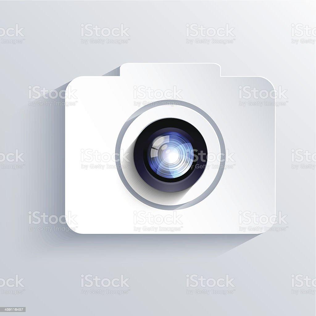 Vector camera icon background. Eps10 royalty-free stock vector art