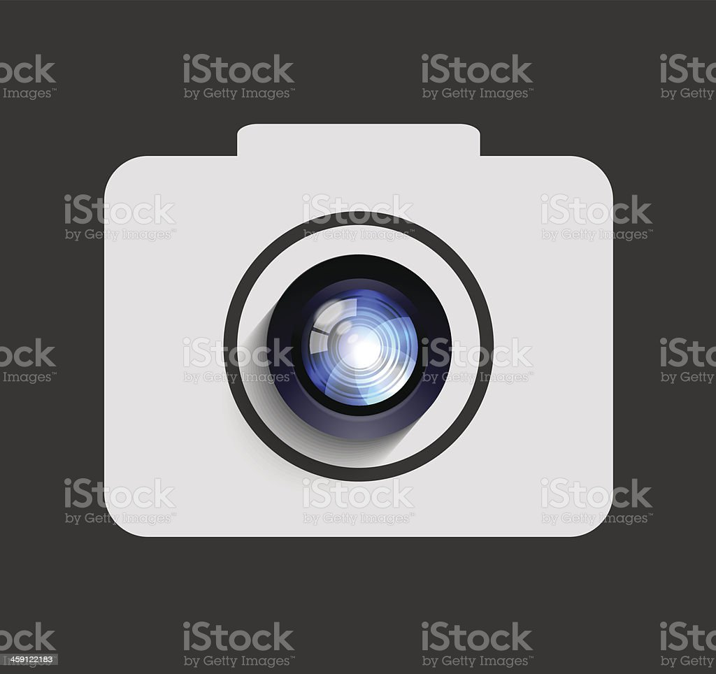 Vector camera icon background. Eps10 royalty-free stock vector art