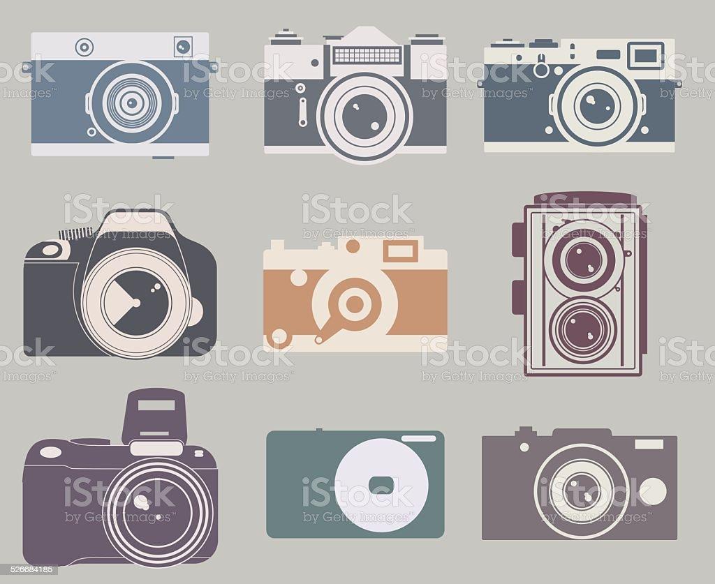 Vector camera icon vector art illustration