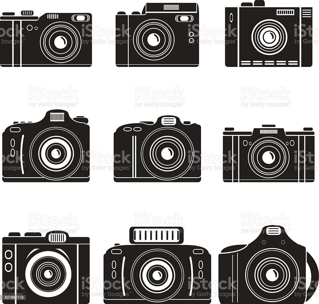 vector camera set royalty-free stock vector art
