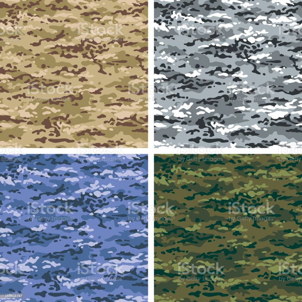 Vector Camouflage in 4 Colors - US Multi vector art illustration