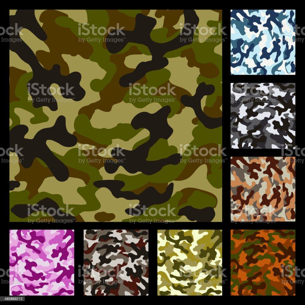Vector camouflage pattern vector art illustration