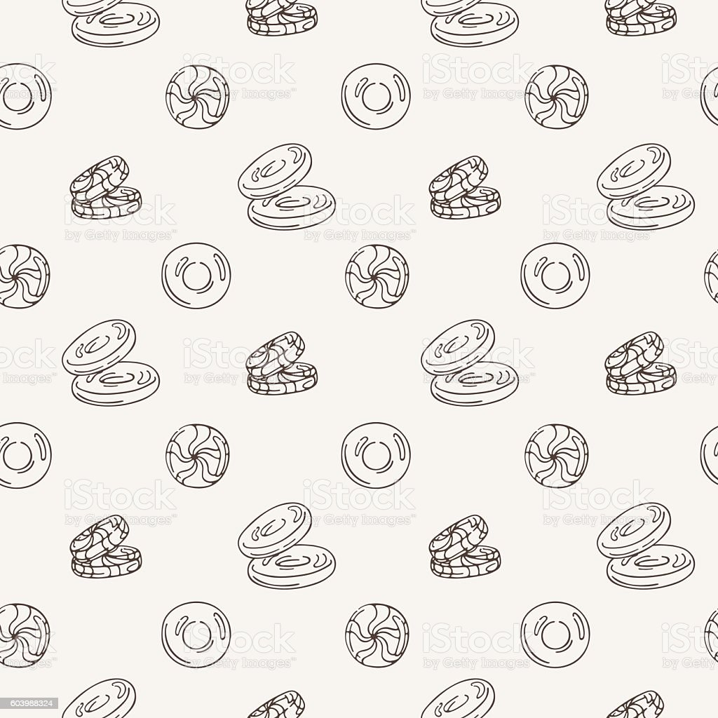 Vector Candy and Lollipop Seamless Pattern. Sweet Party Texture. vector art illustration