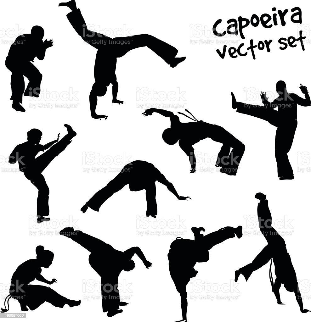 vector capoeira set vector art illustration