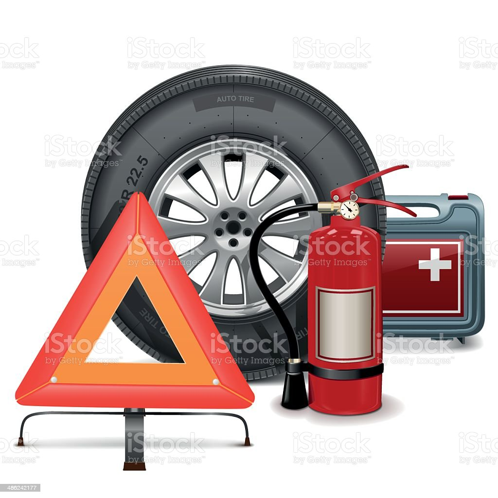Vector Car Parts Consept vector art illustration