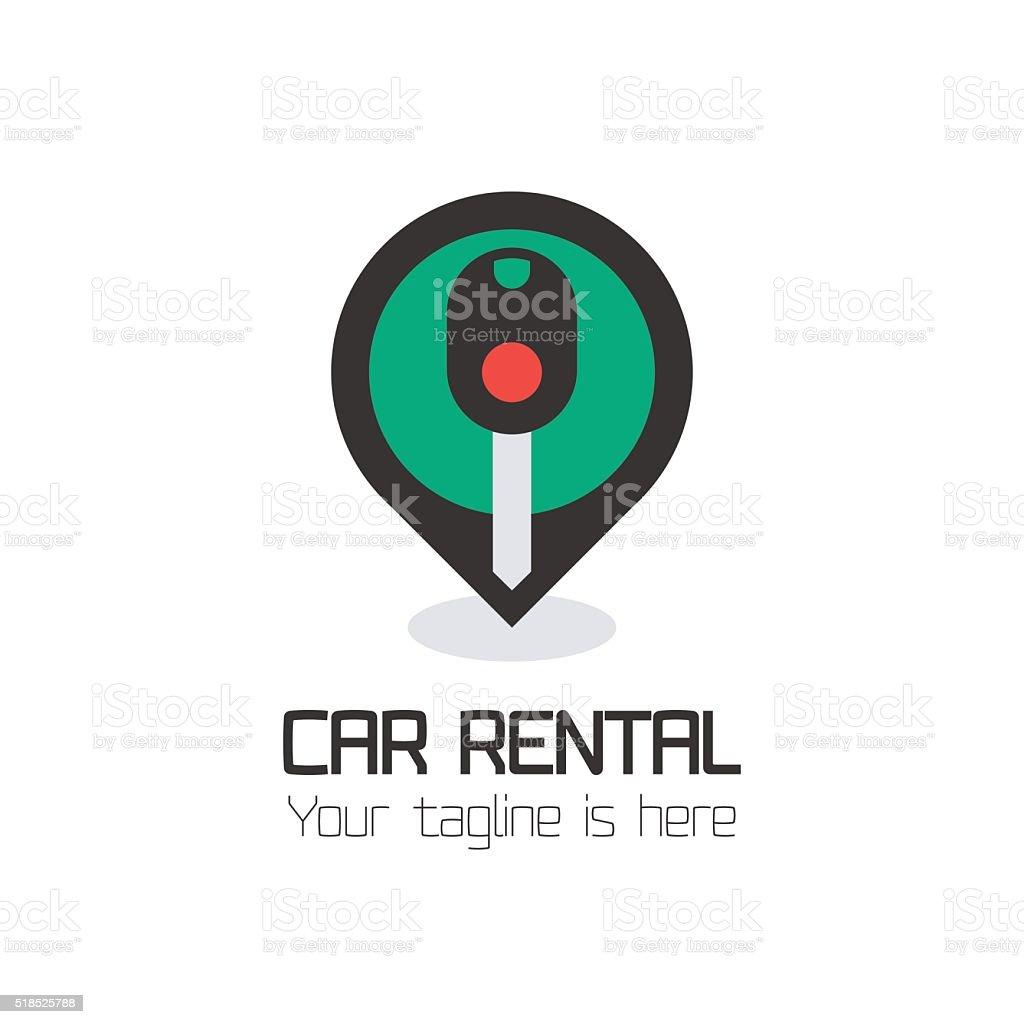 Vector car rentals label, sign vector art illustration