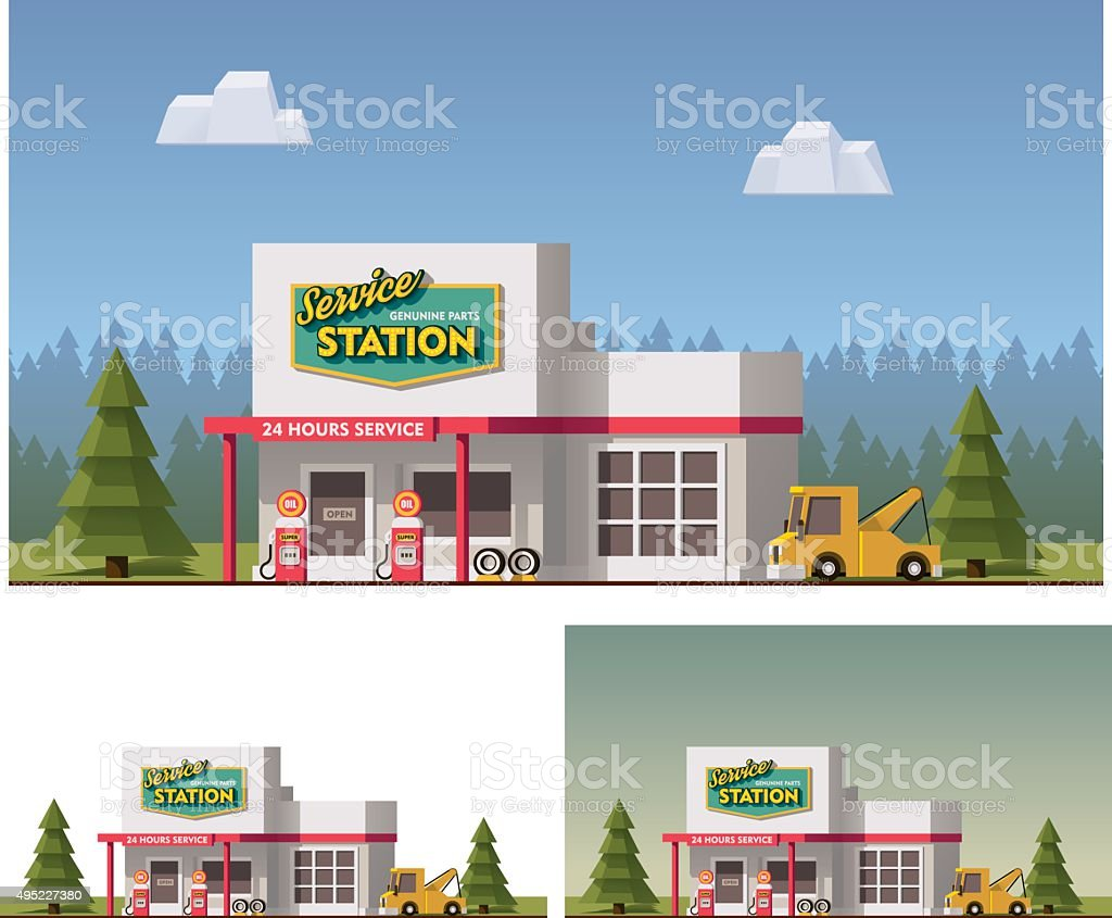 Vector Car Service vector art illustration