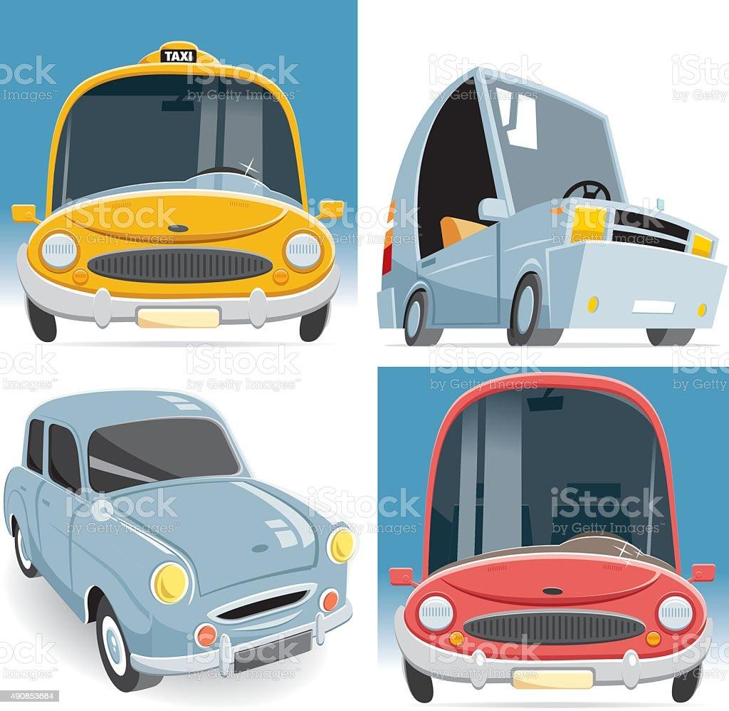 vector car set vector art illustration