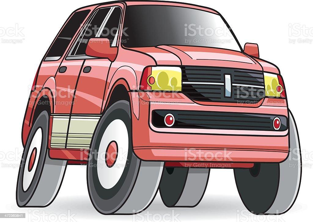 4X4 vector car vector art illustration
