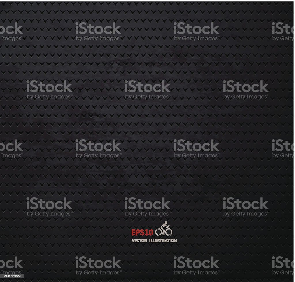Vector carbon fiber and dark grey background vector art illustration