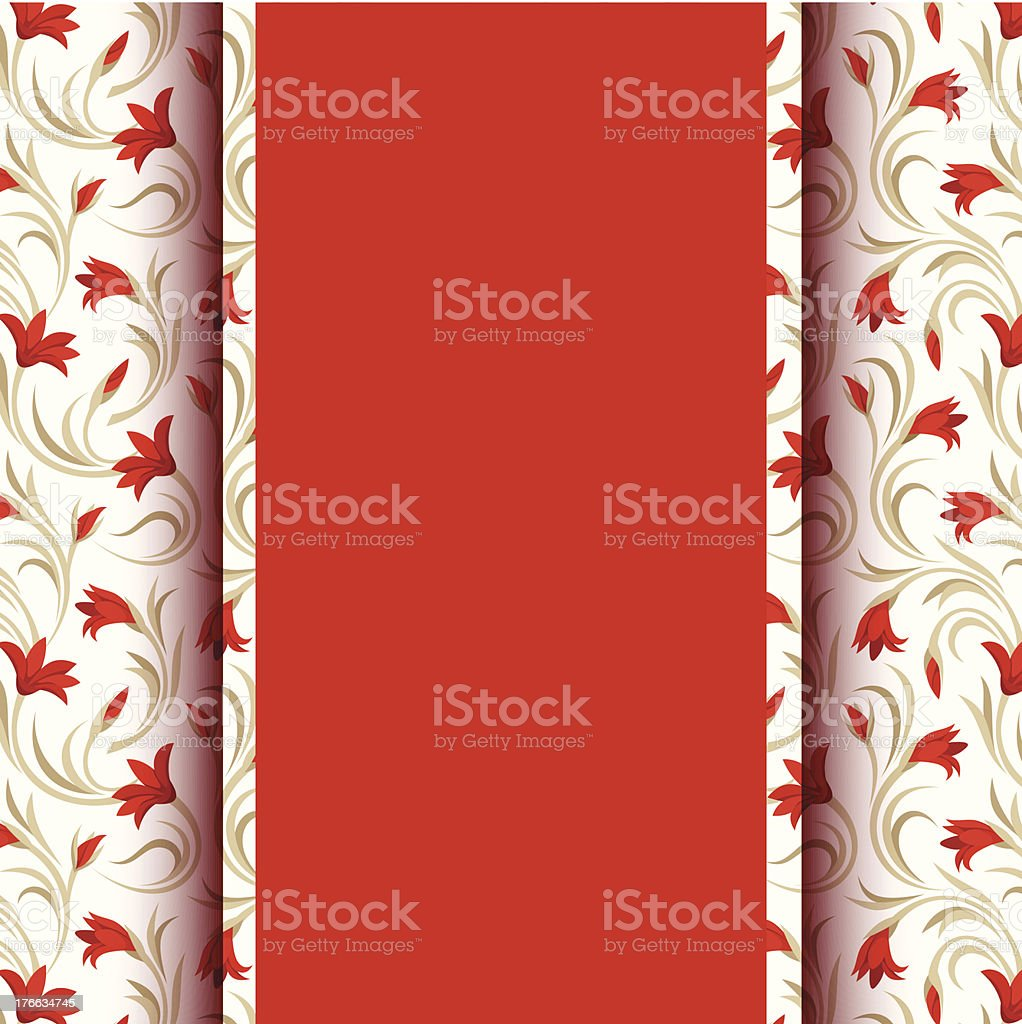 Vector card with floral pattern. royalty-free stock vector art