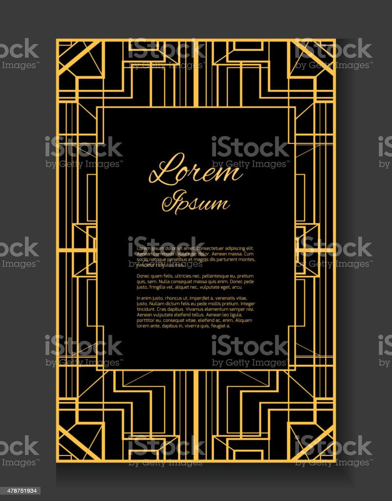 Vector card with place for your text vector art illustration
