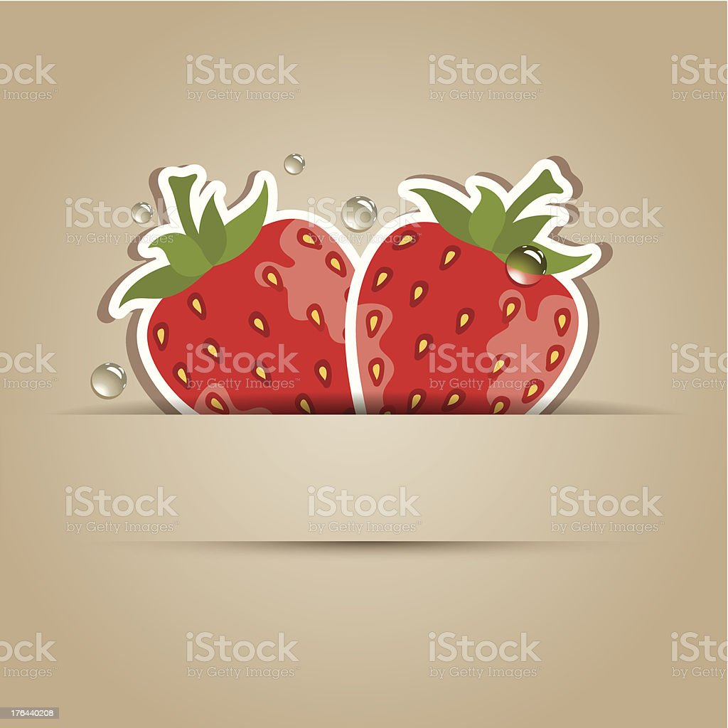 vector card with strawberries royalty-free stock vector art
