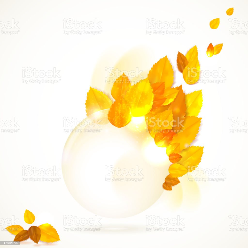 Vector card with stylish composition of autumn leaves. royalty-free stock vector art