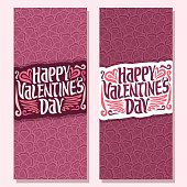 Vector cards for Happy Valentine's Day