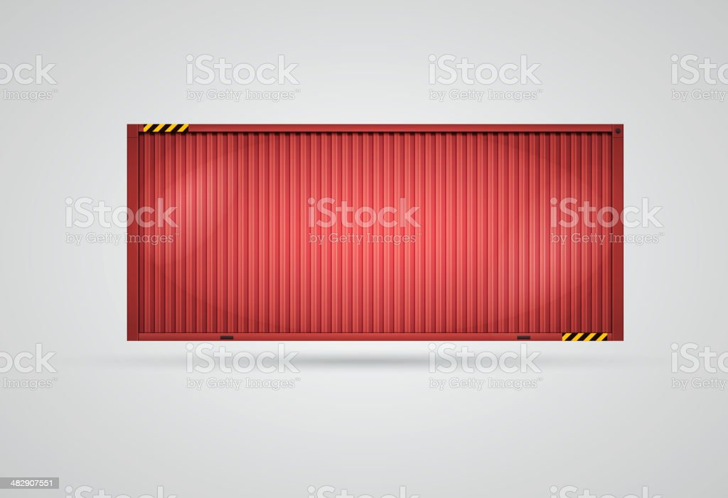 Vector Cargo Container vector art illustration