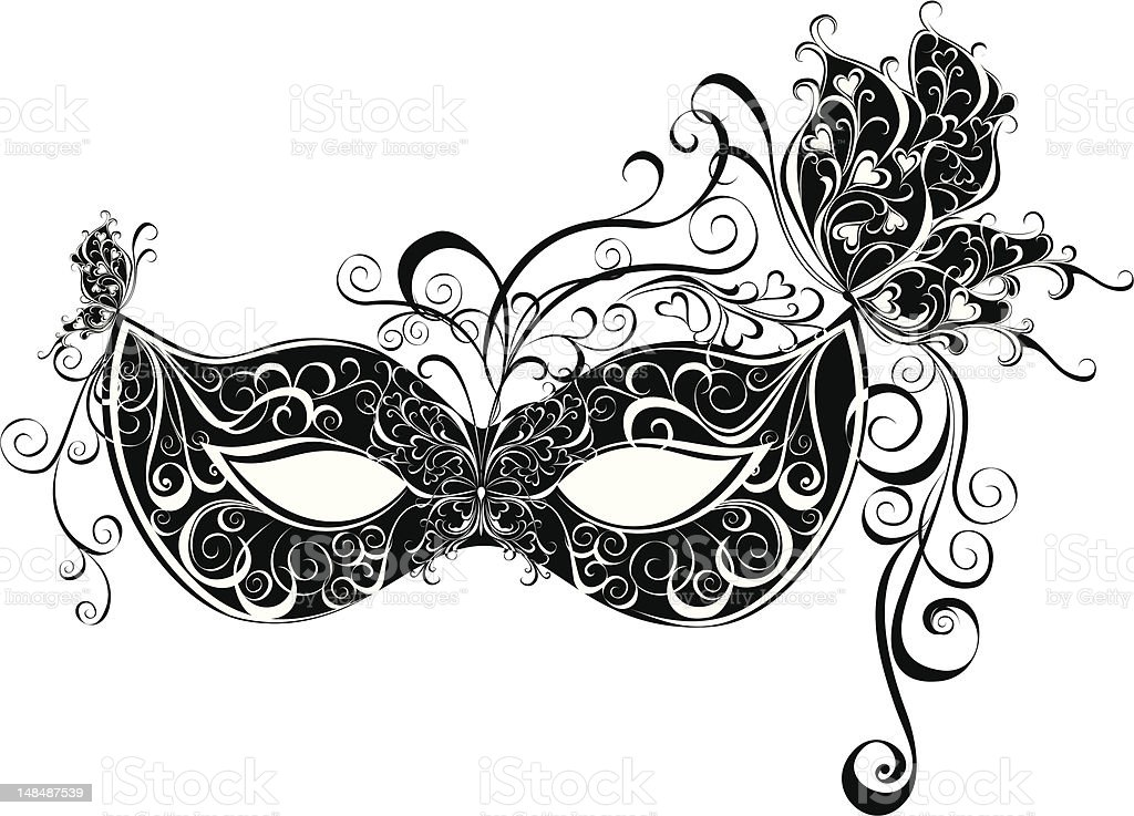 Vector carnival mask royalty-free stock vector art
