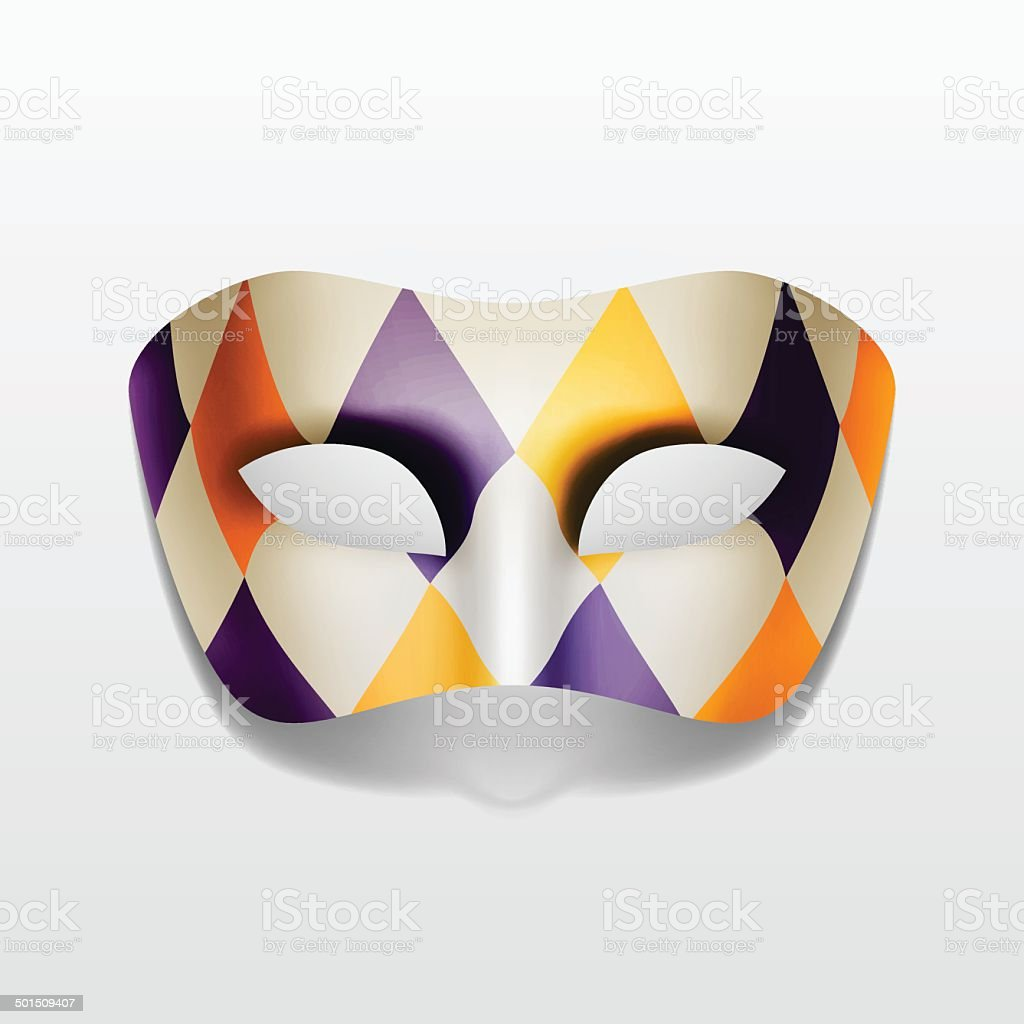 Vector Carnival Masquerade Party Mask Isolated on White vector art illustration