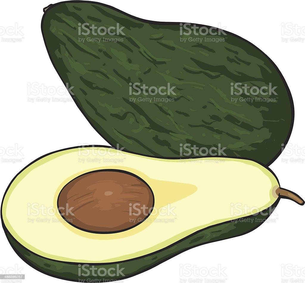 Vector Cartoon Avocado royalty-free stock vector art