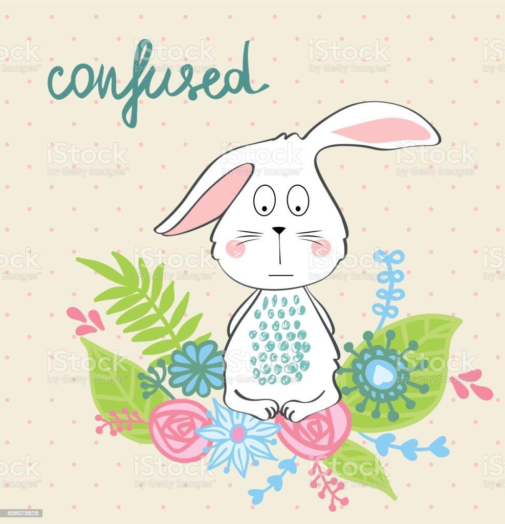 vector cartoon bunny vector art illustration