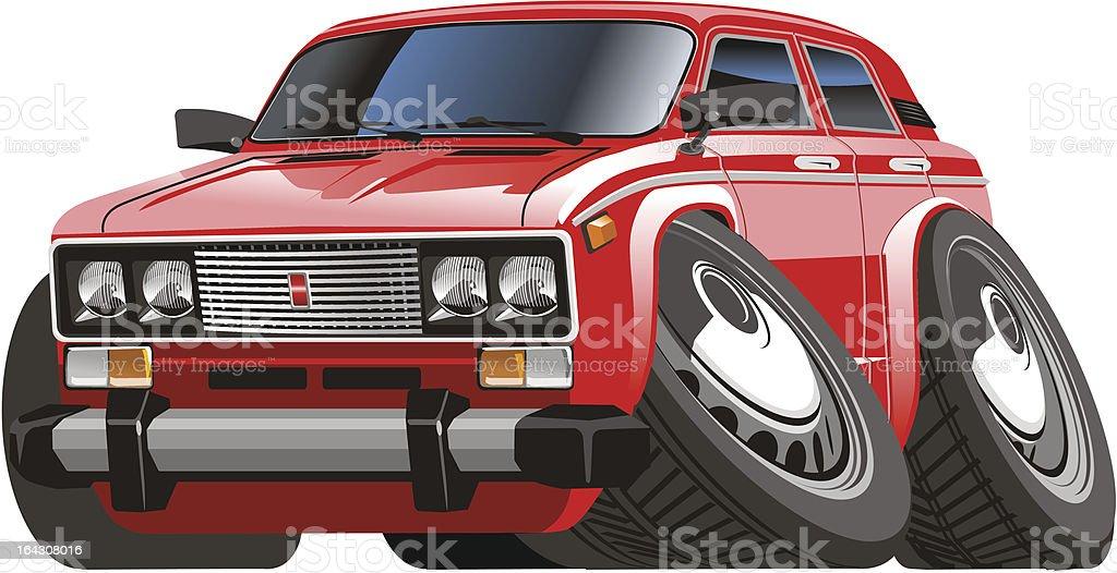 Vector cartoon car royalty-free stock vector art