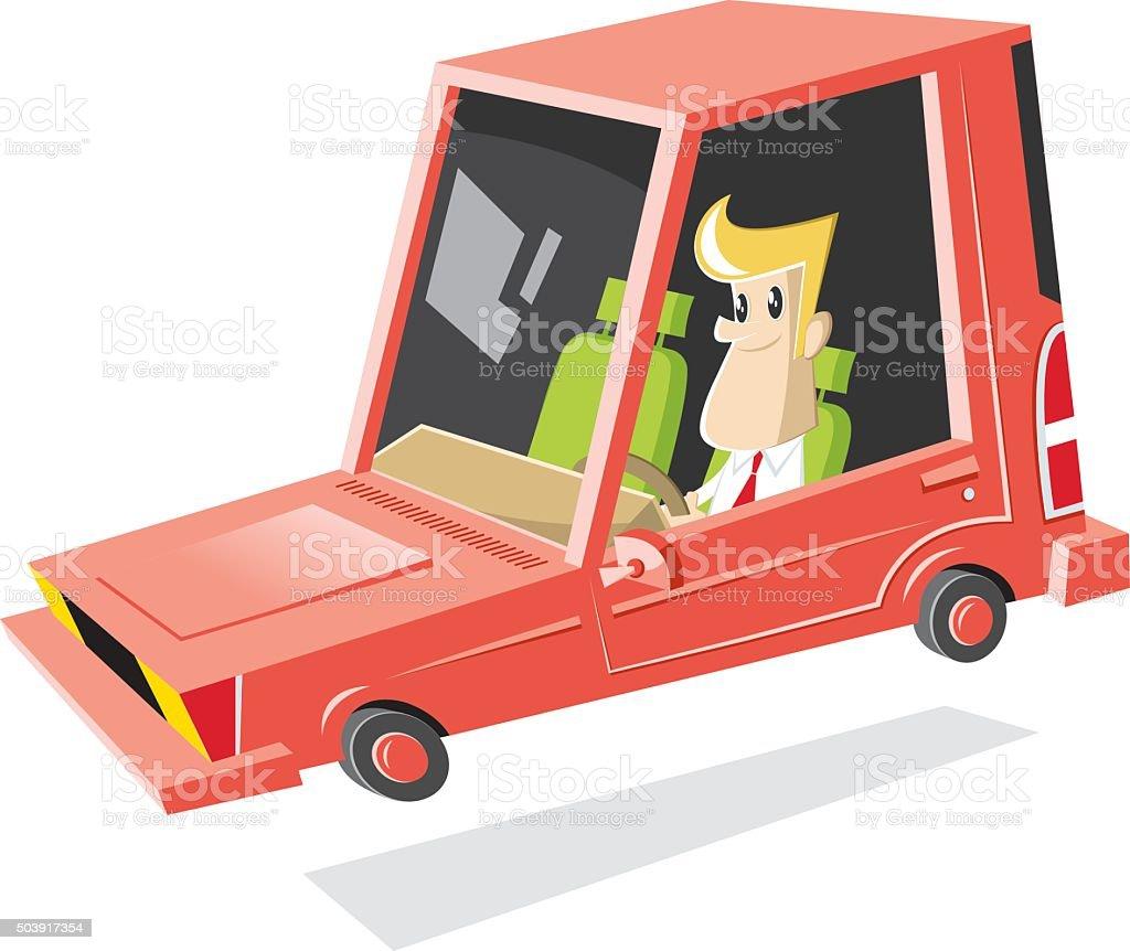 vector cartoon car vector art illustration