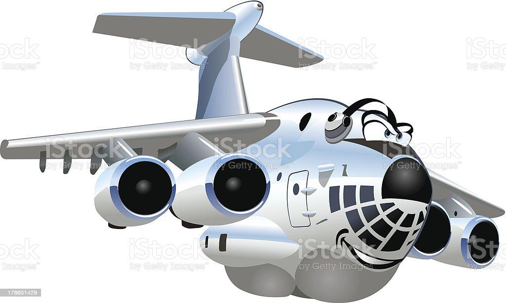 Vector Cartoon Cargo Airplane royalty-free stock vector art