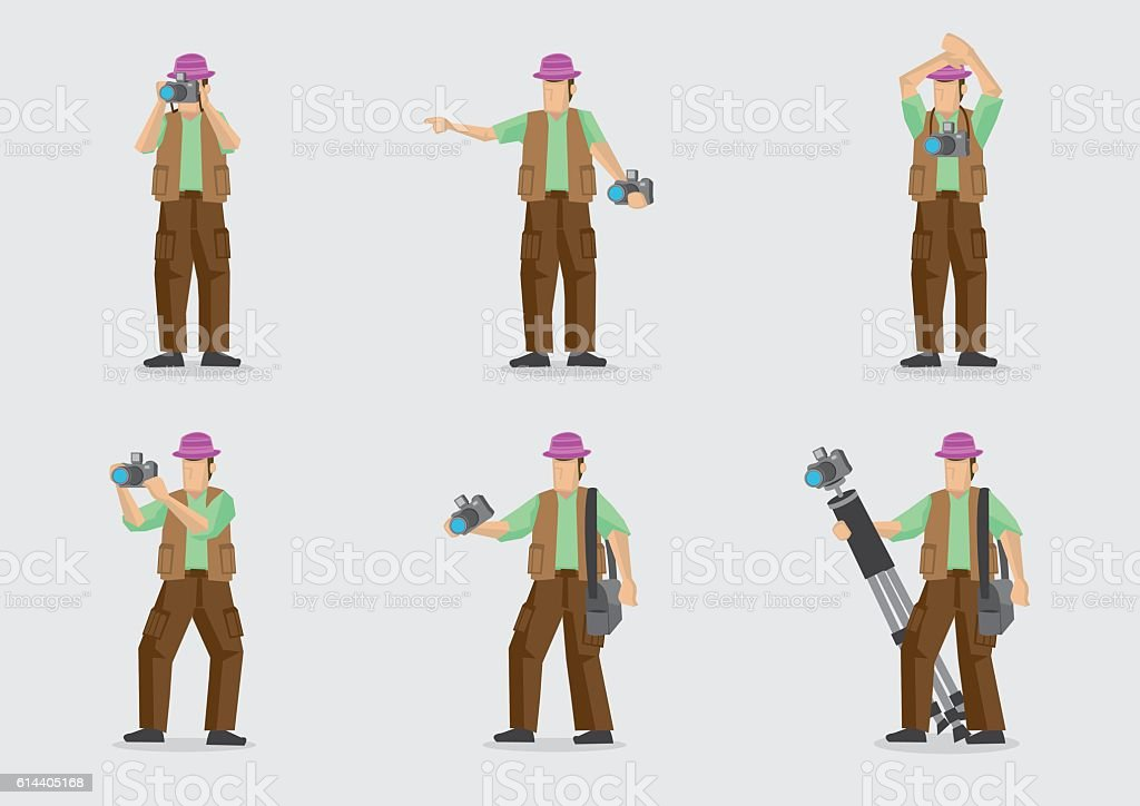 Vector Cartoon Character for Photography vector art illustration