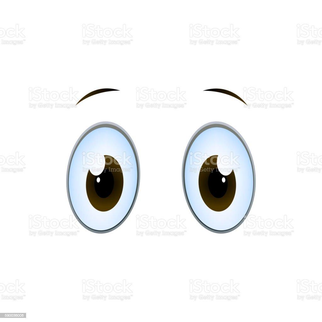 Vector Cartoon Eyes vector art illustration