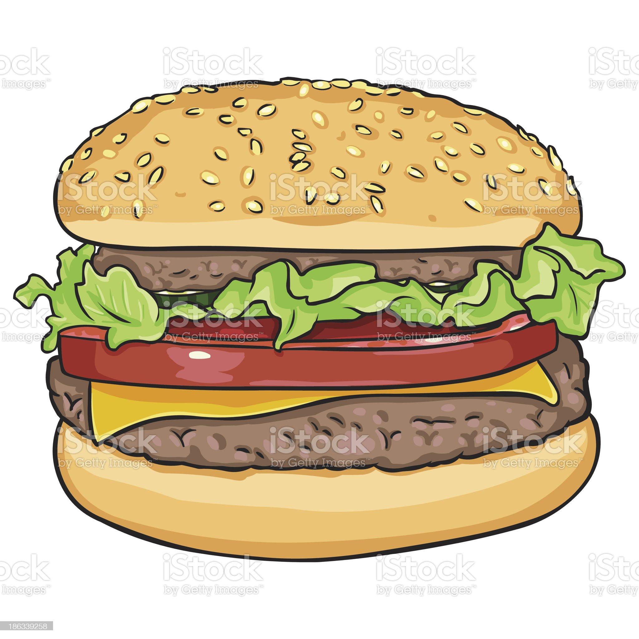 vector cartoon hamburger royalty-free stock vector art