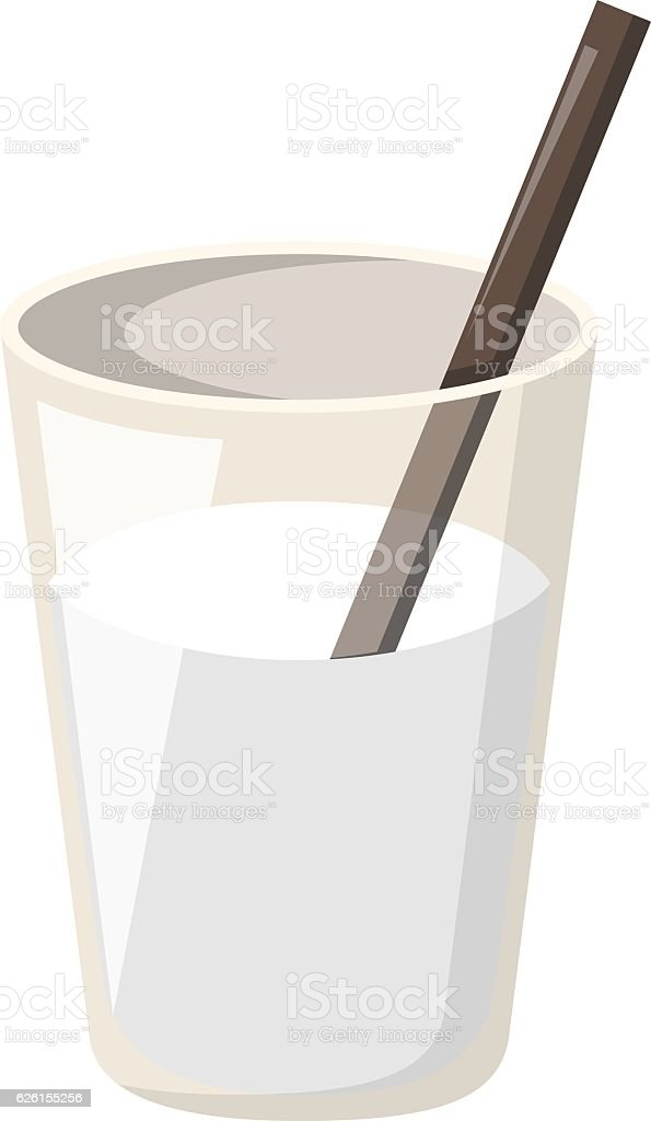 Vector cartoon isolated fresh milk vector art illustration