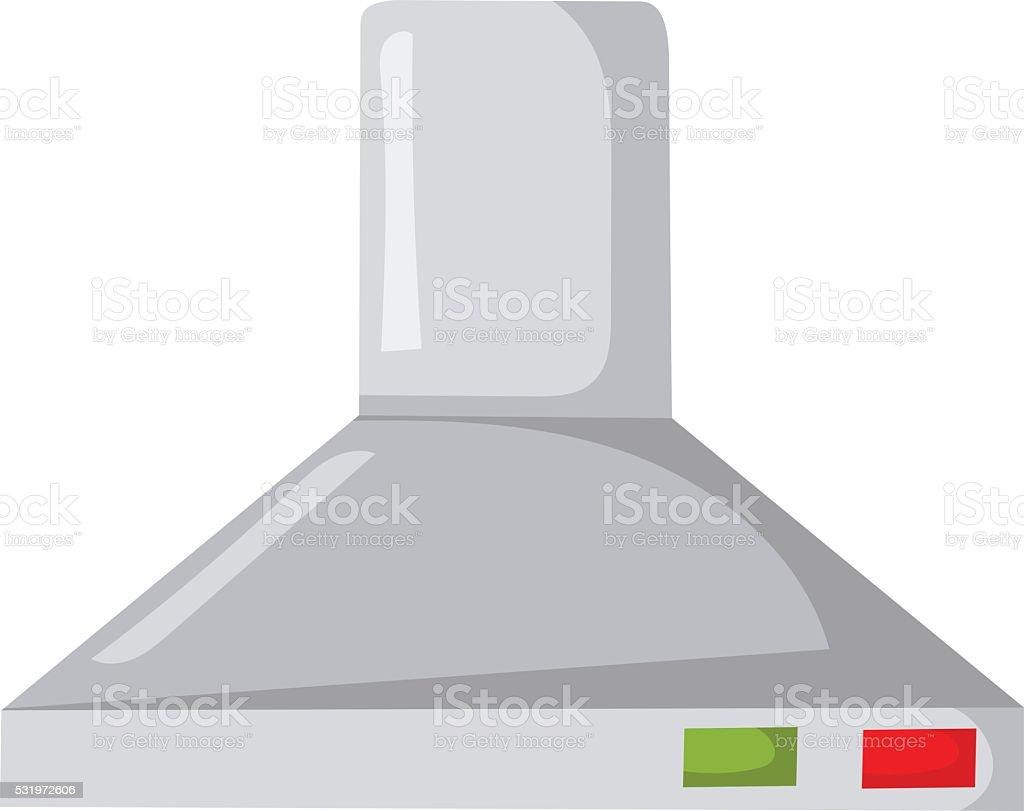 Vector cartoon kitchen extractor hood vector art illustration