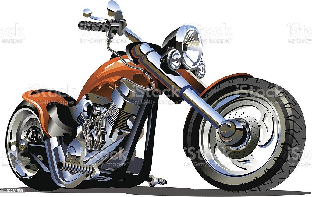 Vector Cartoon Motorbike vector art illustration