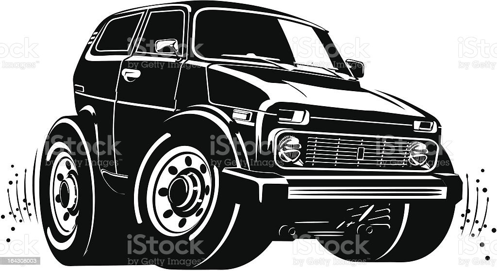 Vector cartoon off-road vehicle royalty-free stock vector art