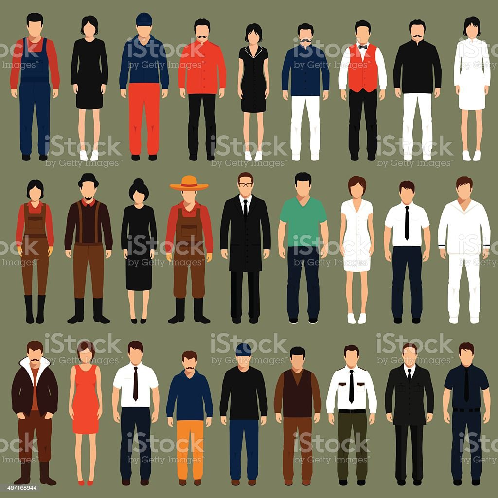vector cartoon people, vector art illustration