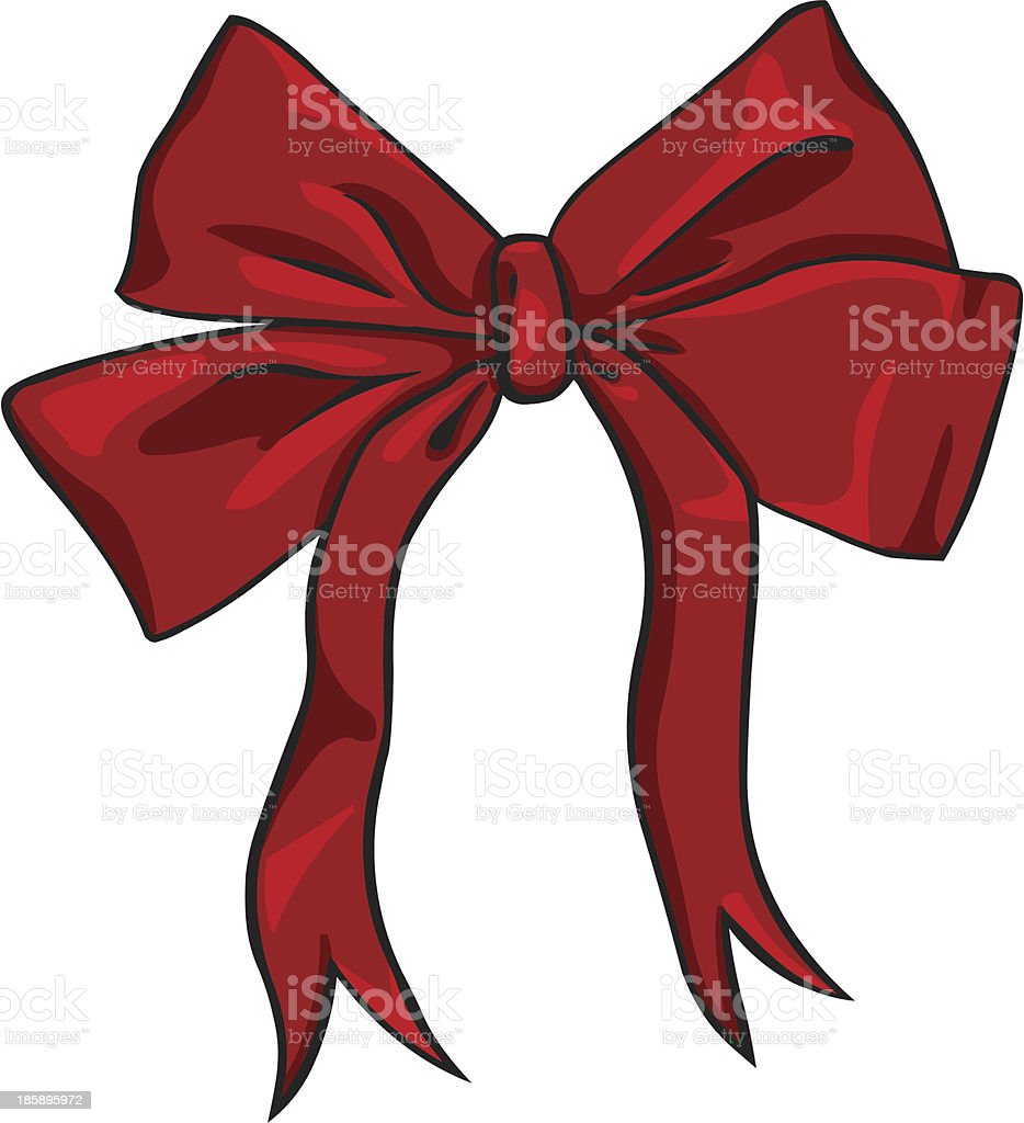 vector cartoon red bow royalty-free stock vector art