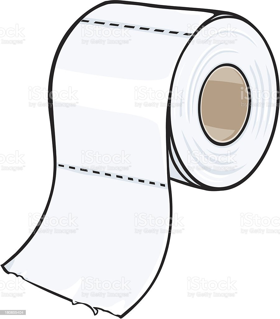 vector cartoon toilet paper vector art illustration