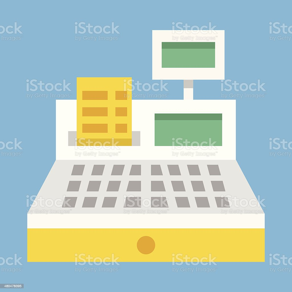 Vector Cash Register Icon vector art illustration