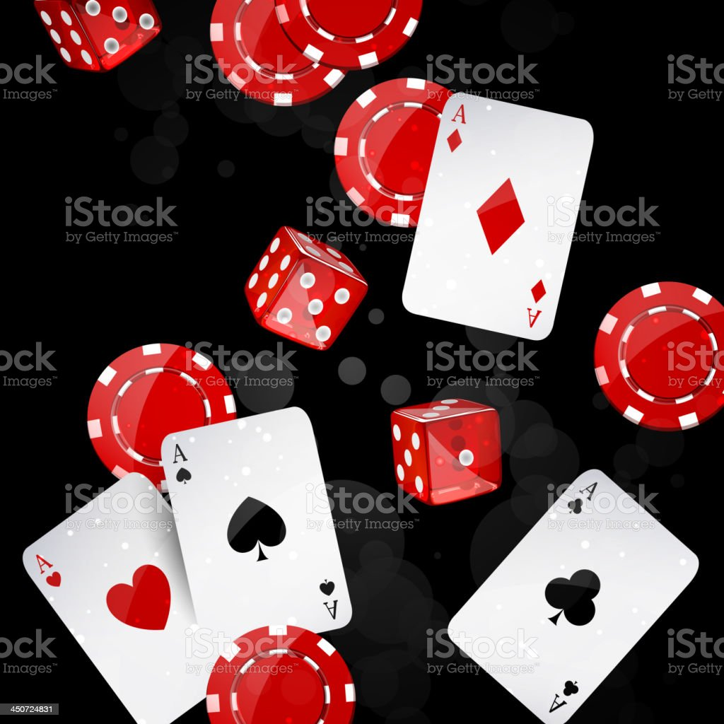 Vector casino elements royalty-free stock vector art