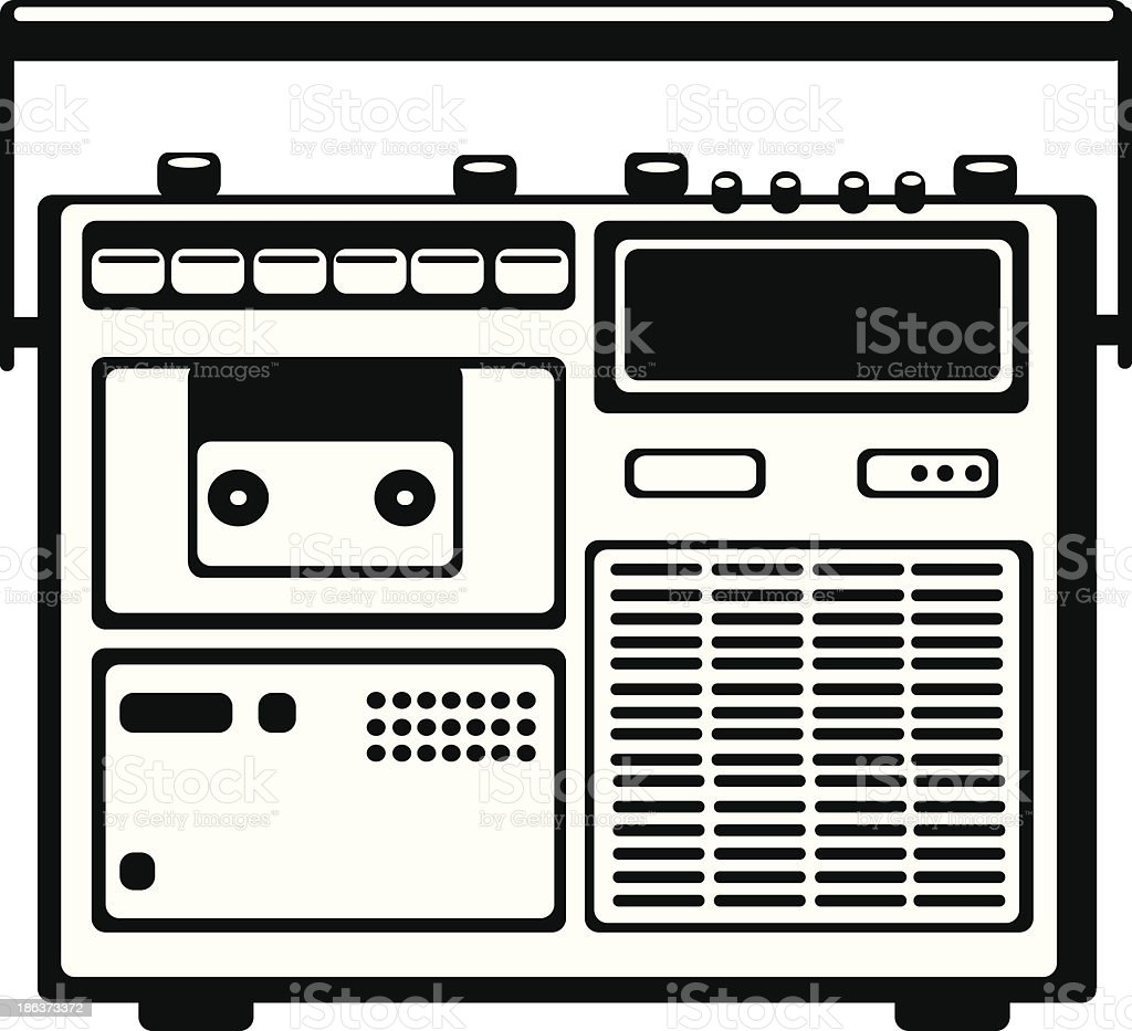 vector cassette recorder on white background royalty-free stock vector art