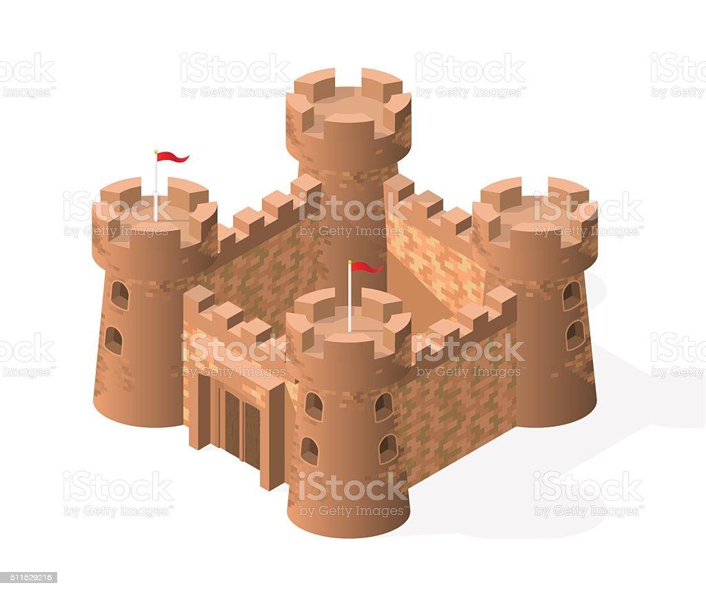 Vector Castle. vector art illustration