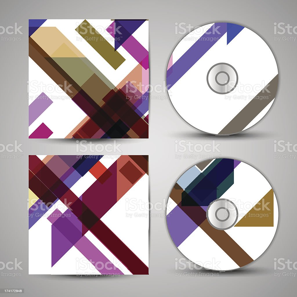 Vector cd cover  set for your design royalty-free stock vector art