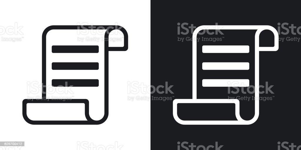 Vector certificate icon. Two-tone version vector art illustration