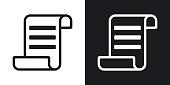 Vector certificate icon. Two-tone version