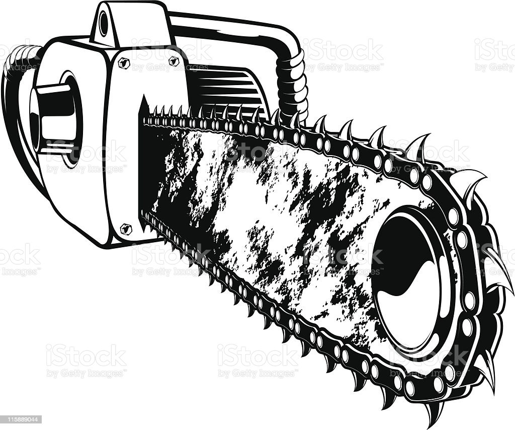 vector chainsaw royalty-free stock vector art