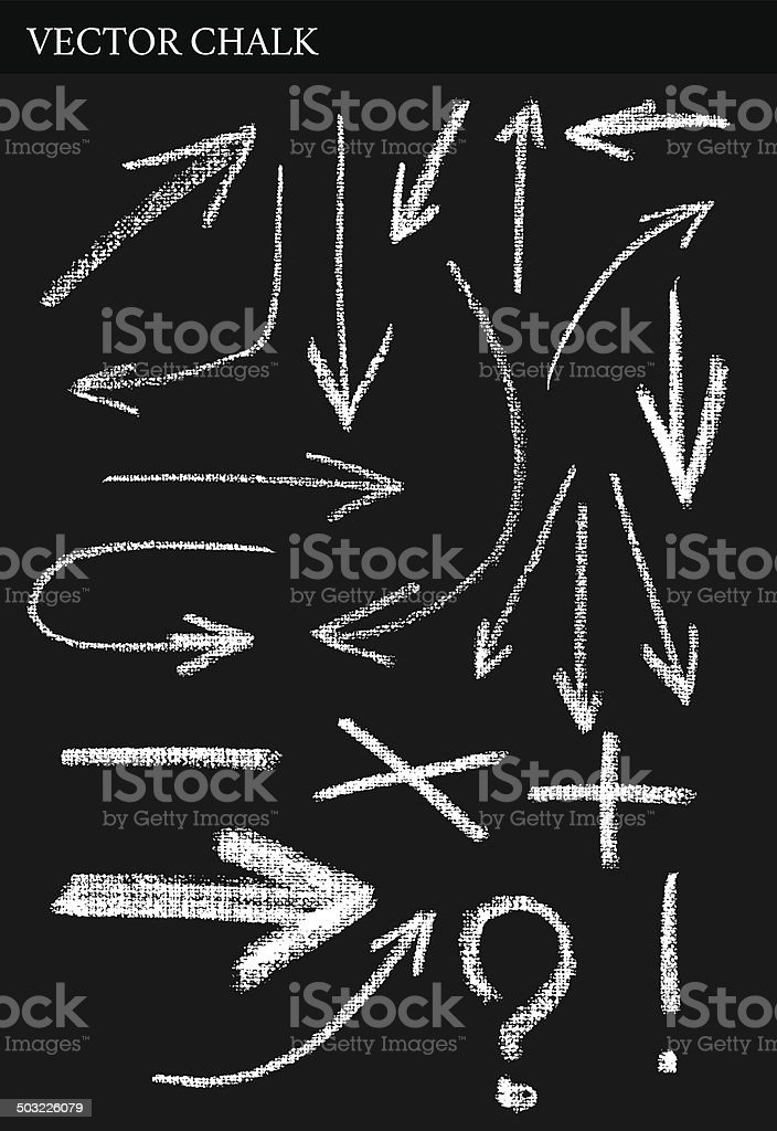 Vector Chalk Arrows vector art illustration