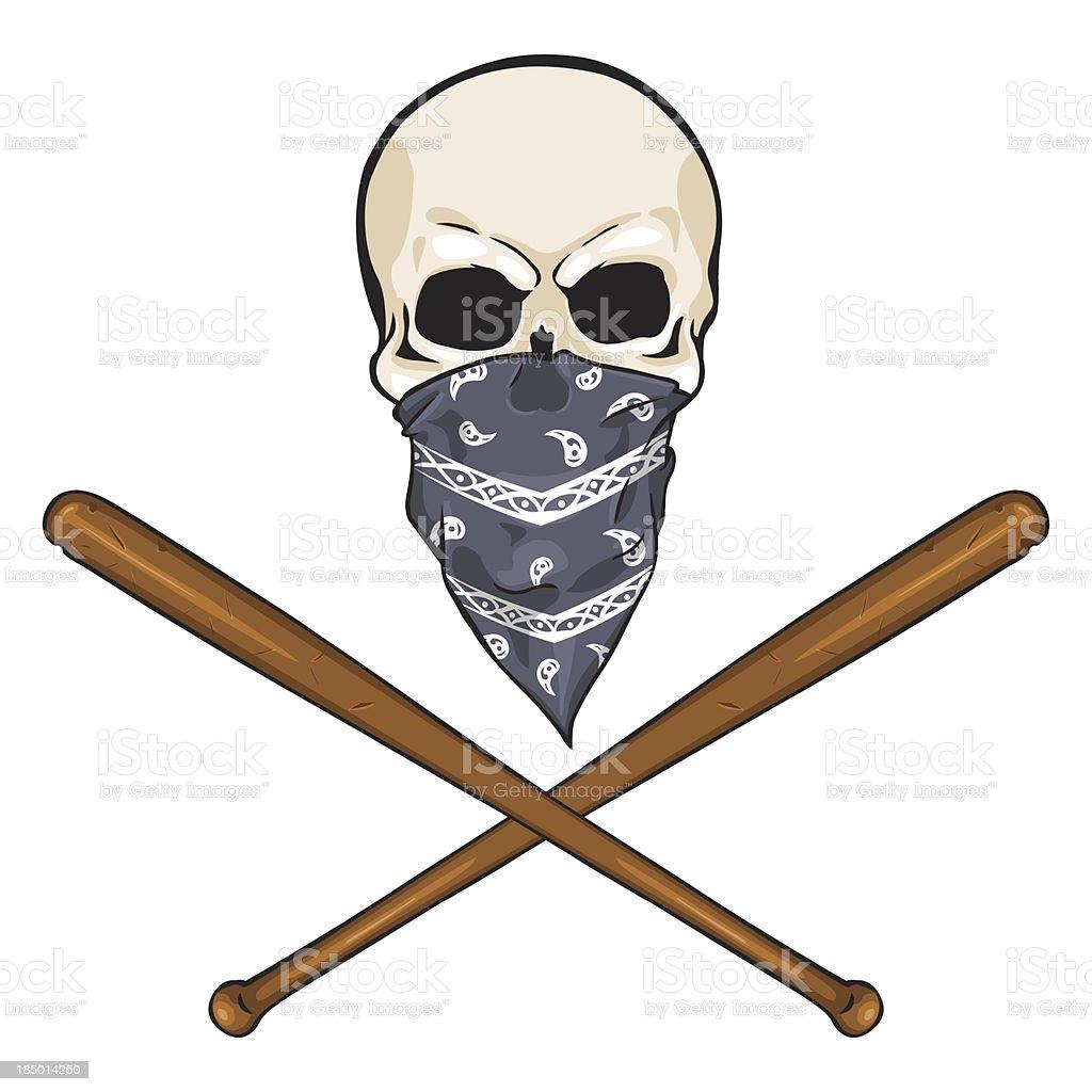 vector  character - skull vandal royalty-free stock vector art